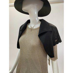 Black Bolero Jacket by KM Collection